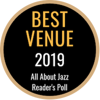 All About Jazz Reader's Poll badge for Best Venue 2019